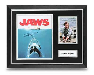 Richard Dreyfuss Signed Photo Framed 16x12 Jaws Autograph Memorabilia Display