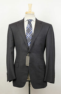 New. CANALI 1934 Gray Twill Wool 2 Button Suit Size 50/40 R $1995