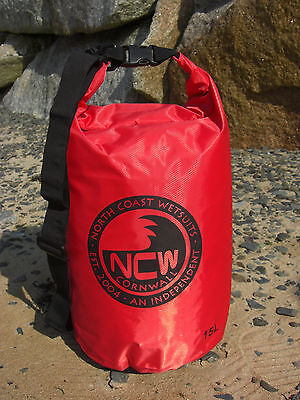 15L roll top dry bag 100% waterproof lightweight TOUGH RIPSTOP nylon with strap