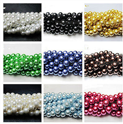 Wholesale 200-2000pcs ABS Pearl Round Spacer Loose Beads 4mm/6mm/8mm