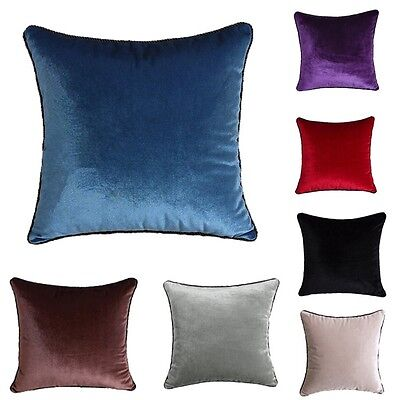 Simple Pillow Covers Solid Color Pillowcases Comfort Soft Home Cushion Covers