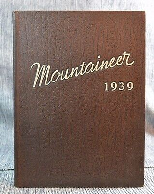 """Annual Yearbook """"Mountaineer"""" Blue Mountain College Mississippi 1939"""