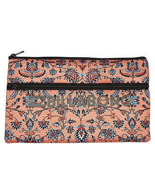 New Billabong Spice Temple Pencil Case Nylon Neoprene Gifts Red