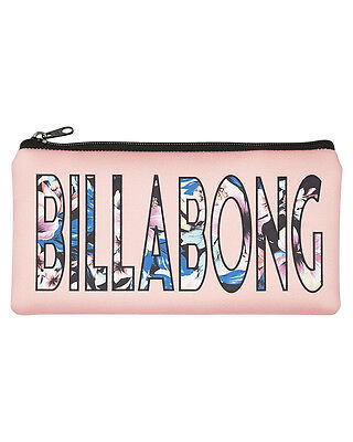 New Billabong Island Time Pencil Case Neoprene Gifts Red