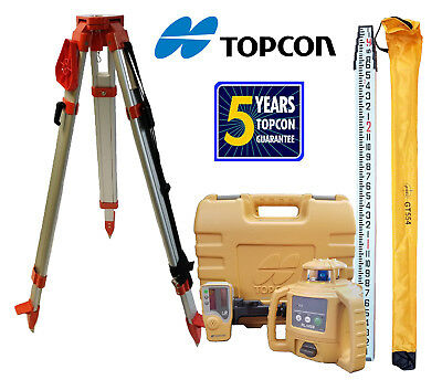 Topcon RL-H5B DB Laser Level PLUS Aluminum Tripod & 13 FT Inches/Tenths Rod