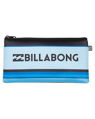 New Billabong Small Pencil Case Neoprene Gifts Blue
