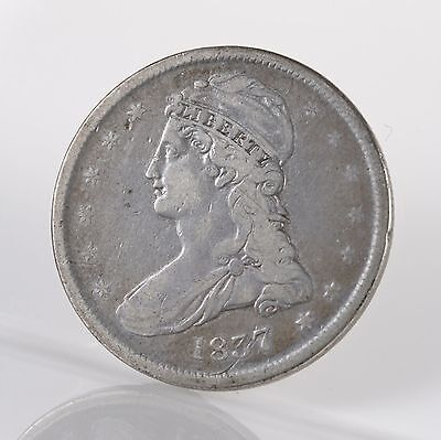 1837 Capped Bust Reeded Edge 50C Uncertified Circ Silver US Half Dollar Coin