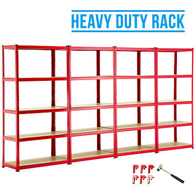 4 Bay 5 Tier Heavy Duty Shelf Garage Shelving Unit Steel Racking W