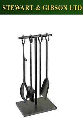 Manor Fireplace Fireside Fire Tee Black Companion Tool Set - 1147