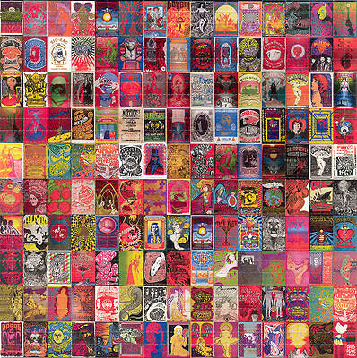 60's Psychedelic POSTERS BLOTTER ART Avalon perforated acid free art paper