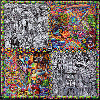 Chris Dyer CHAOS CULTURE JAM -  BLOTTER ART Psychedelic Perforated Acid Free Art