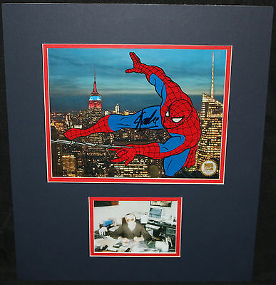 Spider-Man Marvel Collector's Edition Matted Animation Cel 1998 Signed Stan Lee