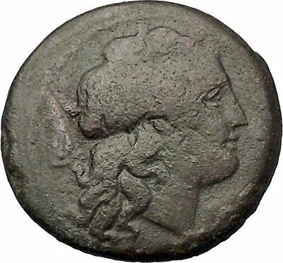 MESSANA SICILY under MAMERTINI 220BC Rare R1 Apollo Warrior Greek Coin i57656