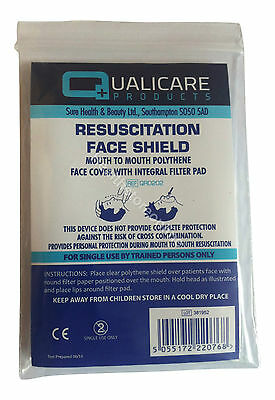 100x CPR Disposable Face Mask - Resuscitation Face Shield ***Free Postage***