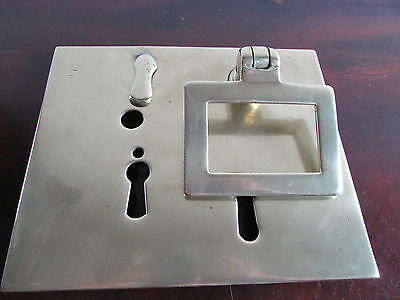 Early 20th Century Large Bank Safe /Vault Brass Lock Plate