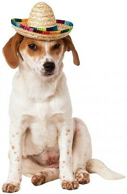 Multi-Colored Mexican Pet Sombrero - 2 sizes Cinco De Mayo fnt