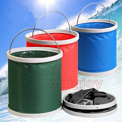 9/11/13L Foldable Water Bucket Carrier Fishing Picinic Camping Car Washing