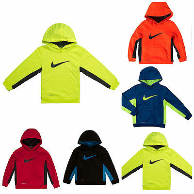 NWT Nike Kids Little Boys Graphic Therma-FIT Swoosh Pullover Hoodie -Sz 4 5 6 7