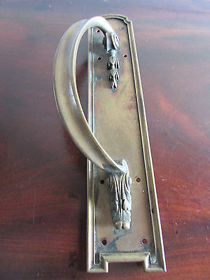Large Early 20th Century Brass Door Handle