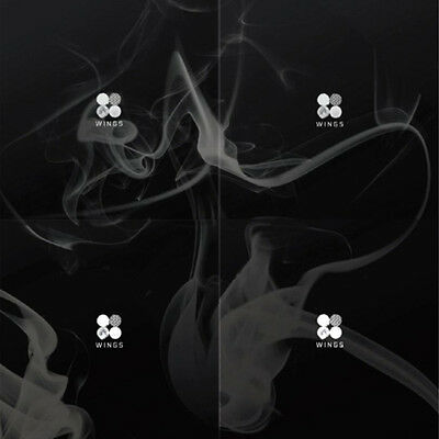 BTS-[WINGS]2nd Album 4 Versions SET CD+Photo Book+Photocard+Gift+Tracking