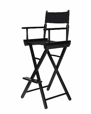 Trademark Innovations Director's Chair Counter Height Black Wood