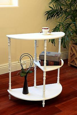 Frenchi Home Furnishing JW125-WH Multi-Tiered End Table White