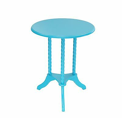 Frenchi Home Furnishing Round End Table Blue