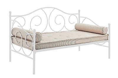 DHP Victoria Twin Size Metal Daybed White Finish