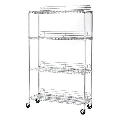 Seville Classics SHE18487Z UltraZinc Wire Shelving System with Ledges