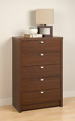 Prepac Series 9 Designer 5-Drawer Chest Warm Cherry