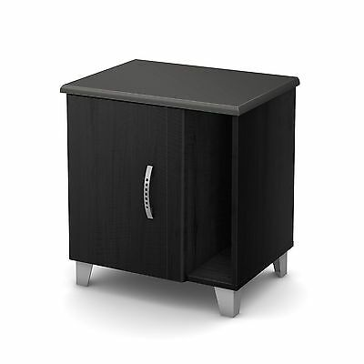 South Shore Furniture Lazer Night Stand Black Onyx
