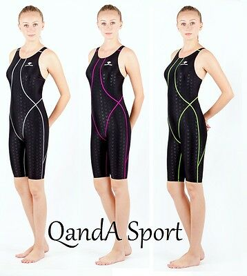 Girls Ladies Sharkskin Technical Competition Racing Kneesuit Kneeskin Swimsuit