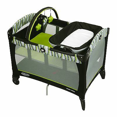 Graco Pack N Play Playard with Reversible Napper and Changer Omni Green