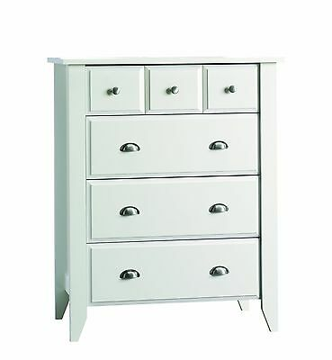 Child Craft Ready-to-Assemble 4-Drawer Chest Matte White Pack of 1
