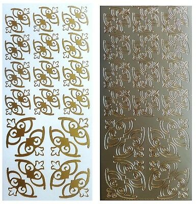 DECO CORNERS Peel Off Stickers Card Making Scrapbooking Gold or Silver