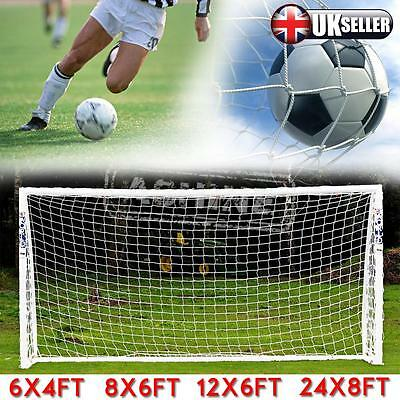 UK Multi Size Football Soccer Goal Post Nets For Sports Training Match Replace
