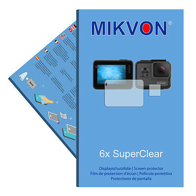 6x Mikvon films screen protector SuperClear for GoPro Hero 5