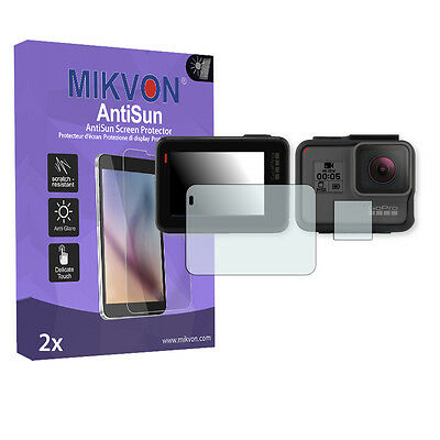 2x Mikvon AntiSun Screen Protector for GoPro Hero 5 Retail Package + accessories