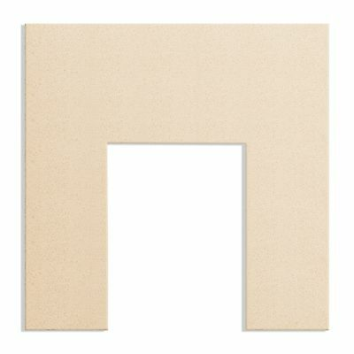 Fireplace Back Panel in Honey Creme Marble, 37 Inch