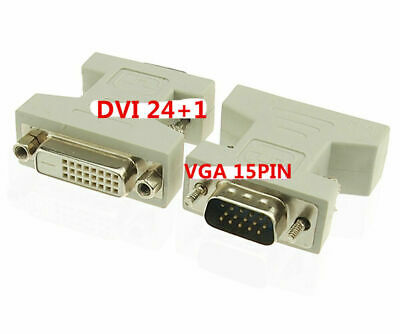 DVI-D Female Analog (24+1) to VGA Male (15-pin) Connector Adapter Dual Link