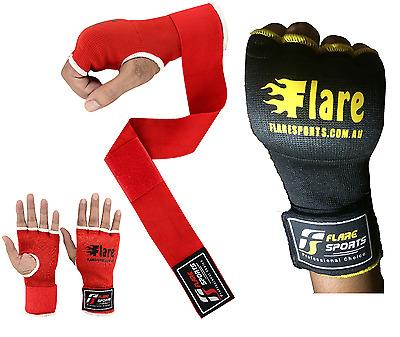 Flare Gel Hand Wraps Wrist Support Stretch Bandages Boxing Training Gloves Thai