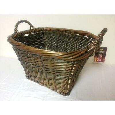 Manor Fireside Fireplace Fire Log Country Small Storage Carry Basket 0397