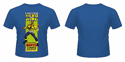 Official Marvel Comics Luke Cage Hero for Hire artwork T-shirt S M L X 2X top