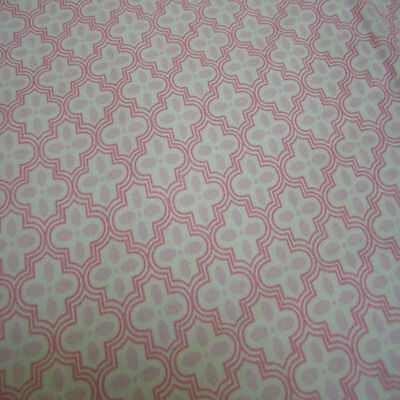 Girls Pink Patterned Double Fitted Sheet Set