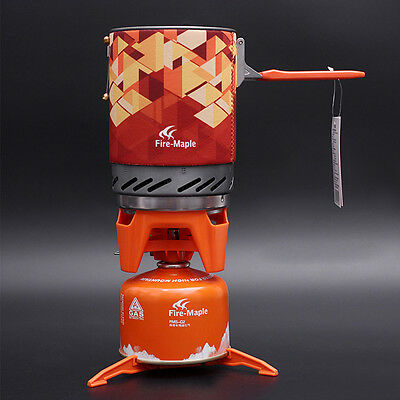 Fire Maple FMS-X2 Compact One-Piece Camping Stove Heat Exchanger Pot Fixed Star
