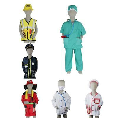 Children's Emergency Services Costume Halloween Fancy Dress up Outfit Boys Girls