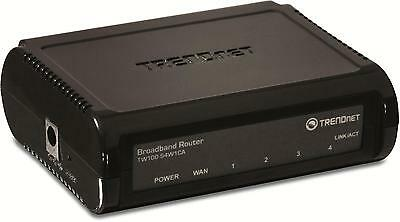 TW100-S4W1CA TRENDnet 10/100MBPS DSL/CABLE BROADBAND ROUTER WITH 4-PORT SWITCH -