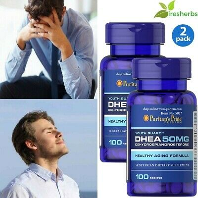 Dhea 50 Mg Healthy Aging Formula - Dietary Supplement - 200 Tablets - 2 Bottles