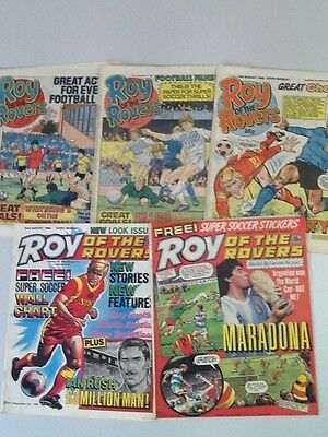 Roy Of The Rovers Comic ~ 5 Editions From August 1986 ~ Free Postage