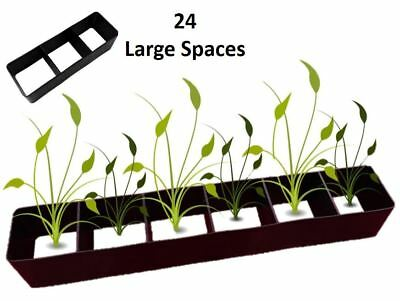 18x Multi Plant Cell Seed Growing Tray Seedling Spacer Garden Bedding Plant Pots